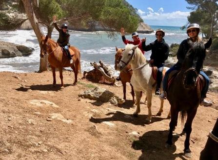 Riding. School Learn Spanish in Menorca. Activities